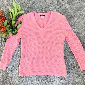 J. CREW Small Pink Waffle Knit Sweater